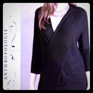 Anthropologie Knitted & Knotted Black Sweater (M)